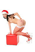 Lauren Crist Sexy Christmas istripper model