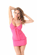 Angie Line Gorgeous In Pink istripper model