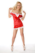 Natalia V Christmas chick istripper model